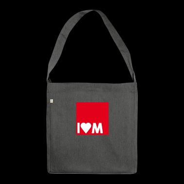 I heart M - Shoulder Bag made from recycled material