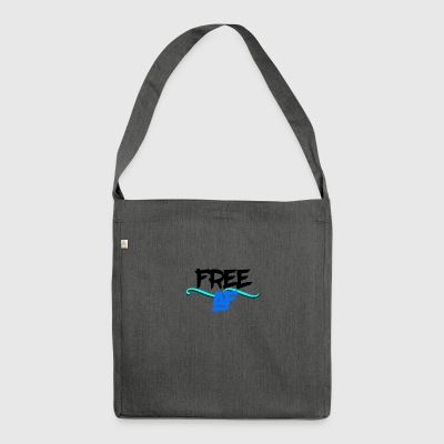 Free as fuck - Schultertasche aus Recycling-Material