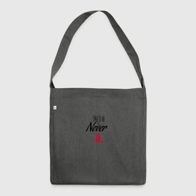 Meow or Never - Shoulder Bag made from recycled material