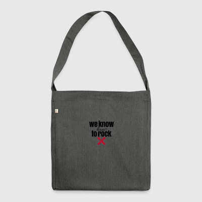We know hot to rock - Schultertasche aus Recycling-Material