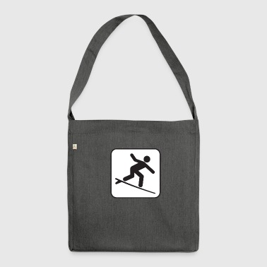 Surfing Poster - Shoulder Bag made from recycled material