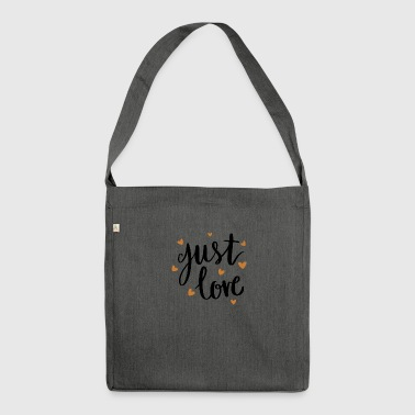 just love - Schultertasche aus Recycling-Material