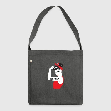 Pin-Up Girl / Rockabilly / 50s: Girl Power - Schultertasche aus Recycling-Material