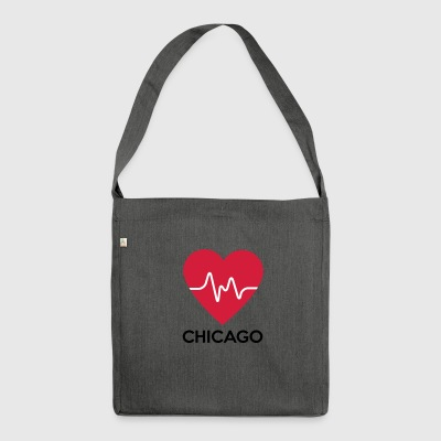 heart Chicago - Shoulder Bag made from recycled material