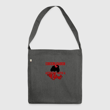 Cheerleader: Cheerleader - Attitude With A Bow. - Shoulder Bag made from recycled material