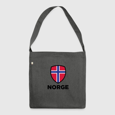 261 norwegen nationale flagge - Schultertasche aus Recycling-Material