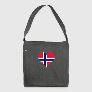 A Heart For Norway - Shoulder Bag made from recycled material