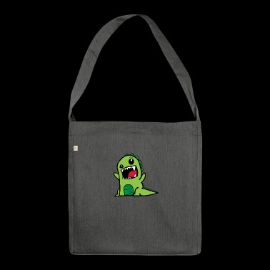 Dinosaurier T-Rex Comic Style - Schultertasche aus Recycling-Material