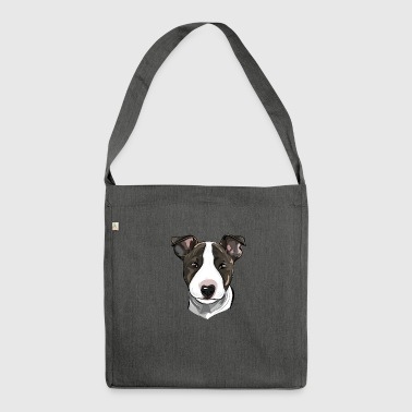 BULL TERRIER - BULL TERRIER puppy - Shoulder Bag made from recycled material