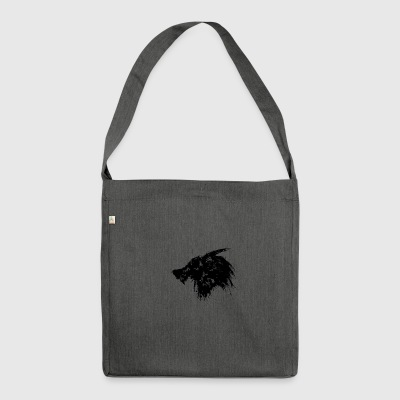 Design Wolf Splatter - Borsa in materiale riciclato