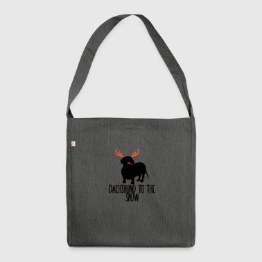 Dachshund / Dachshund: Dachshund To The Snow - Shoulder Bag made from recycled material
