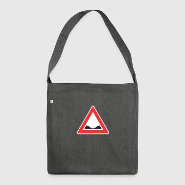 Road Sign down red triangle - Shoulder Bag made from recycled material