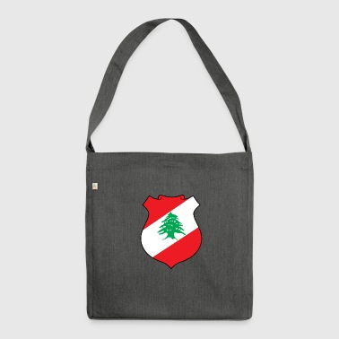 Nationales Wappen des Libanon - Schultertasche aus Recycling-Material
