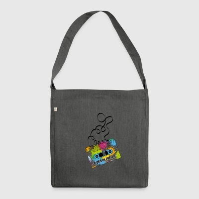 80s music cassette - Shoulder Bag made from recycled material