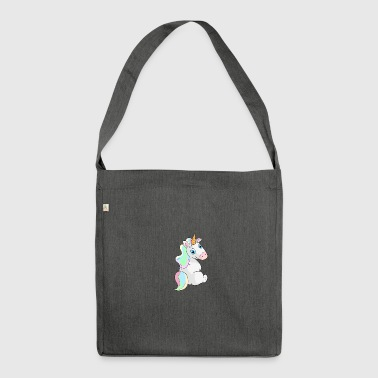 Unicorn sitting - Unicorn Sitting - Shoulder Bag made from recycled material