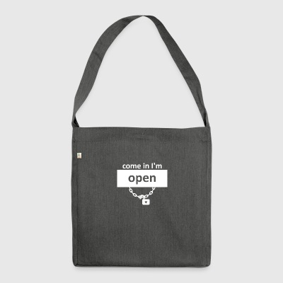 Heartopen wite - Shoulder Bag made from recycled material