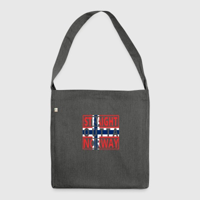 Straight outta NORWEGEN norway denmark png - Schultertasche aus Recycling-Material