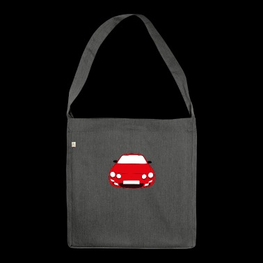 rotes Auto - Schultertasche aus Recycling-Material