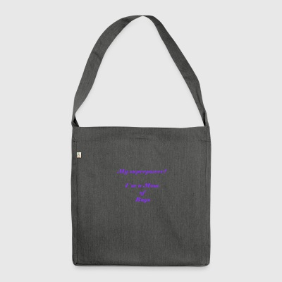 Superpower mom - purple - Shoulder Bag made from recycled material