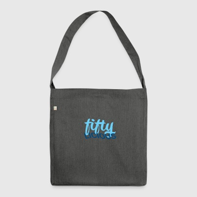 50th birthday: fiftylicious - Shoulder Bag made from recycled material