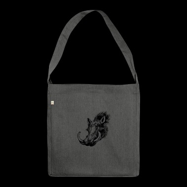 wild boar - Shoulder Bag made from recycled material