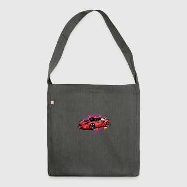 Cool red sportscar - Shoulder Bag made from recycled material