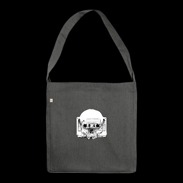 Audio Skull - Schultertasche aus Recycling-Material