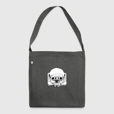 Audio Skull - Shoulder Bag made from recycled material