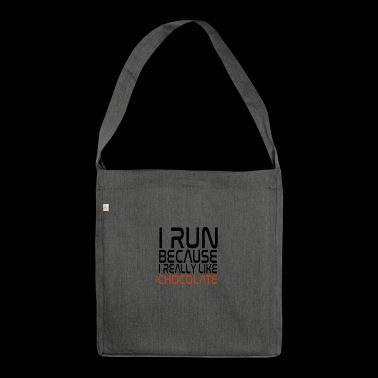 Race for chocolate snacking - Shoulder Bag made from recycled material