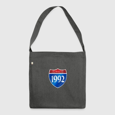 Since 1992 - Schultertasche aus Recycling-Material