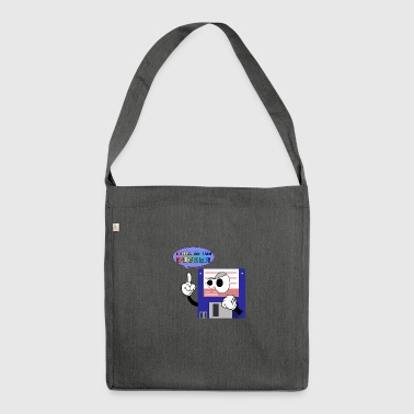 floppy disk come back again - Shoulder Bag made from recycled material