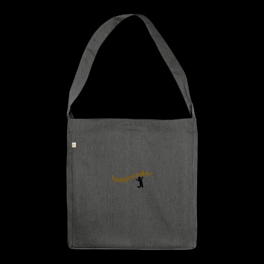 Poop today - Shoulder Bag made from recycled material