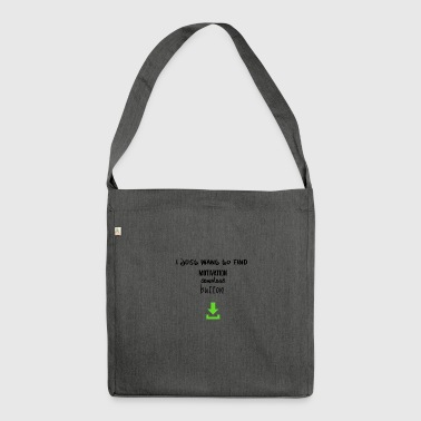 Motivation download button - Shoulder Bag made from recycled material