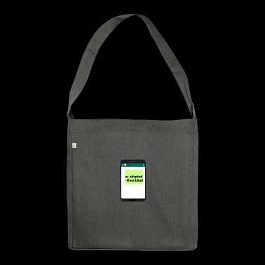 Son, ur adopted - Schultertasche aus Recycling-Material