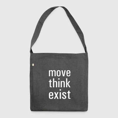 move think exist - Schultertasche aus Recycling-Material