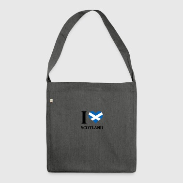 I love Scotland - Shoulder Bag made from recycled material