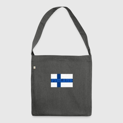Finland flag - Shoulder Bag made from recycled material