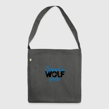 Bachelor party / JGA / Groom's Wolfpack - Shoulder Bag made from recycled material