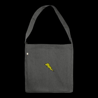 lightening bolt - Shoulder Bag made from recycled material