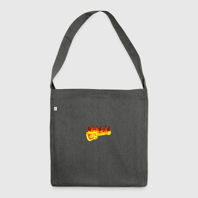 Fire guitar - Shoulder Bag made from recycled material