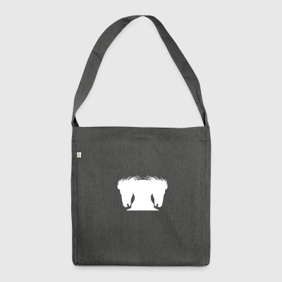 Stallion horse white version - Shoulder Bag made from recycled material