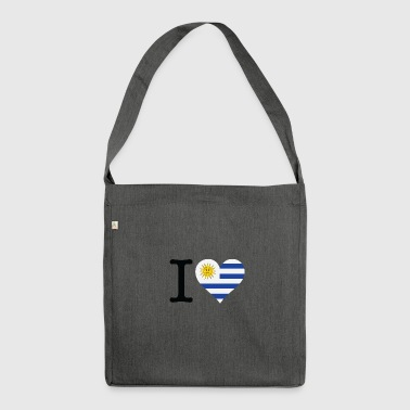 I Love Uruguay - Shoulder Bag made from recycled material