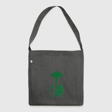 Earth Day / Earth Day: Earth and Tree - Shoulder Bag made from recycled material