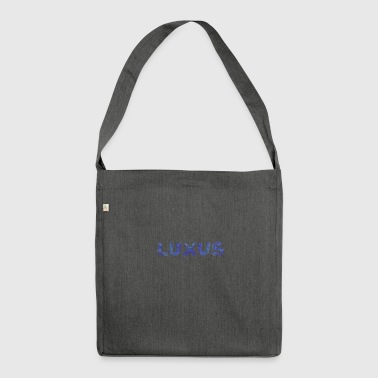 LUXURY blue - Shoulder Bag made from recycled material