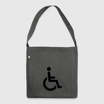 wheelchair - Shoulder Bag made from recycled material