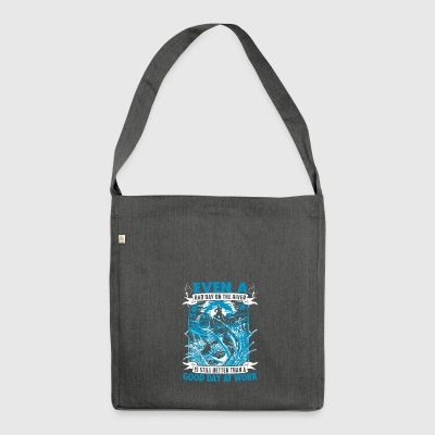 Fishing T-Shirt - Shoulder Bag made from recycled material