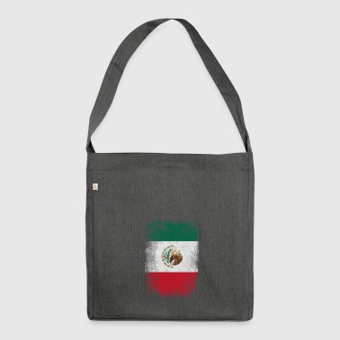 Mexiko-Flagge Proud Mexican Vintage Distressed - Schultertasche aus Recycling-Material