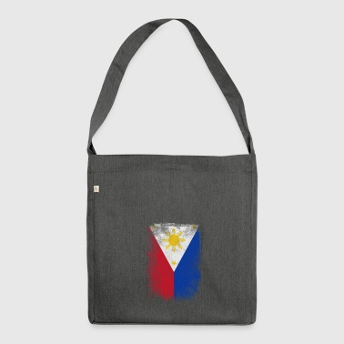 Philippines Filipino Flag Proud Vintage Distressed - Shoulder Bag made from recycled material