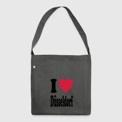 I love Düsseldorf - Shoulder Bag made from recycled material