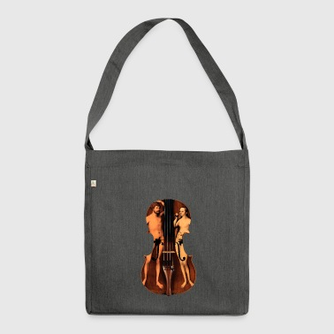 violin adamo and eva - Shoulder Bag made from recycled material